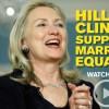 Hillary Clinton apoia os direitos de igualdade LGBT